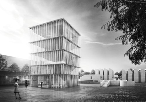 Erster Preis Wettbewerb Bauhaus Archiv Staab Architekten GmbH Berlin Perspektive 1